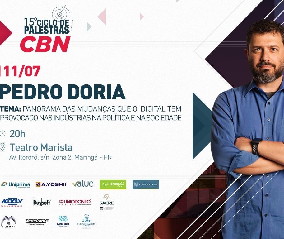Jornalista e escritor Pedro Doria faz palestra em Maringá dia 11 de julho