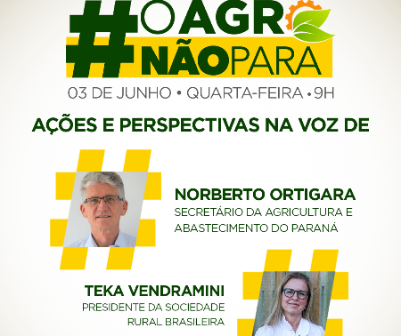 #OAgroNaoPara discute o momento atual e perspectivas para o setor do agronegócio
