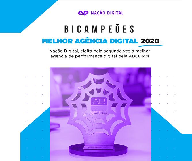 Nação Digital é eleita a melhor agência de performance digital pela ABCOMM