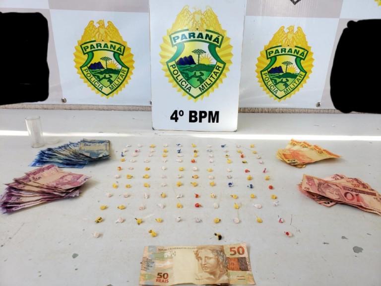Homem é preso com 104 pedras de crack em Maringá