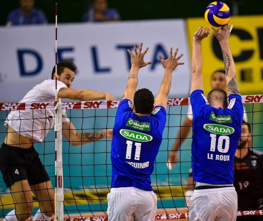 Copel Telecom perde para o Sada Cruzeiro por 3 sets a 2