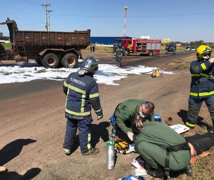 Três ficam feridos em acidente na PR-317, perto do Rio Pirapó