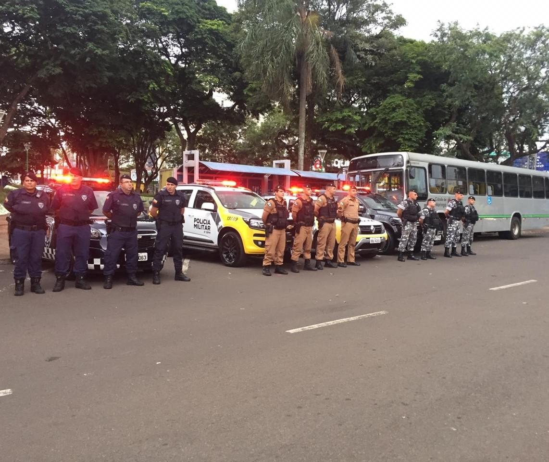 PM e Guarda Municipal reforçam segurança em Maringá