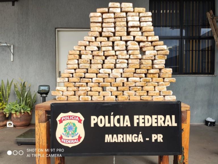 Polícia Federal apreende em Maringá caminhão com 154 kg de crack