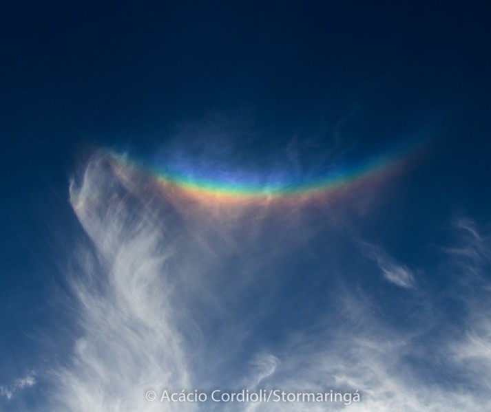 """Sorriso? """"Arco-íris invertido"""" aparece no céu de Maringá e região"""