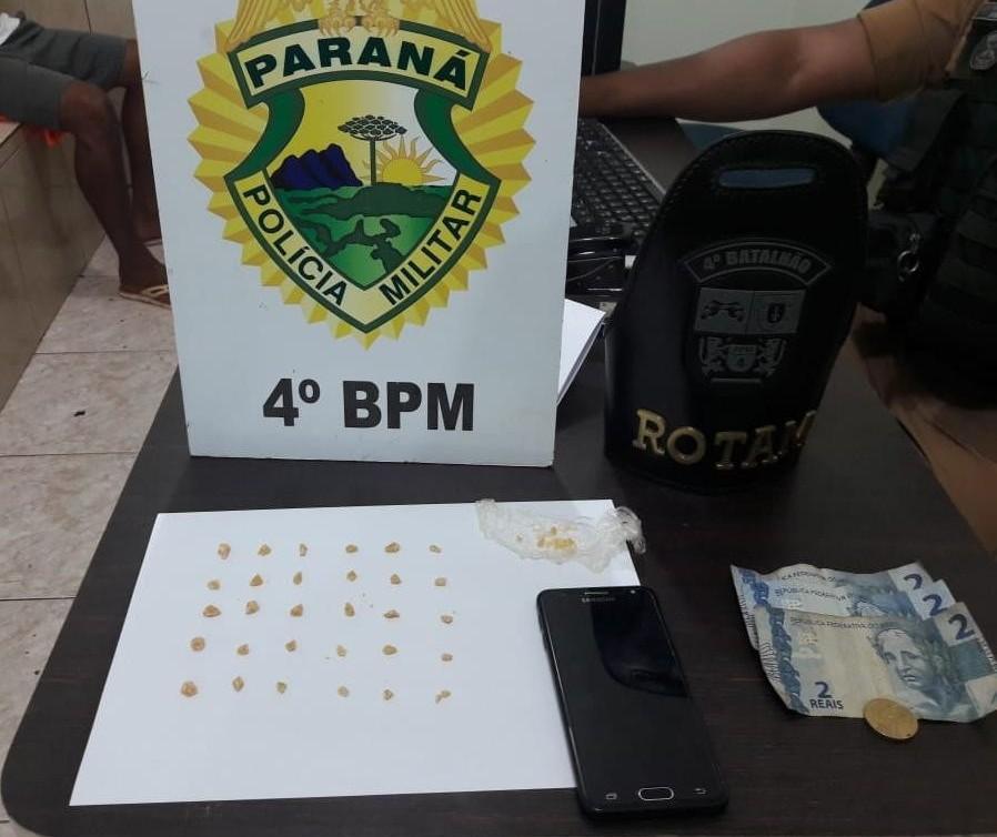 Polícia prende homem por tráfico de drogas