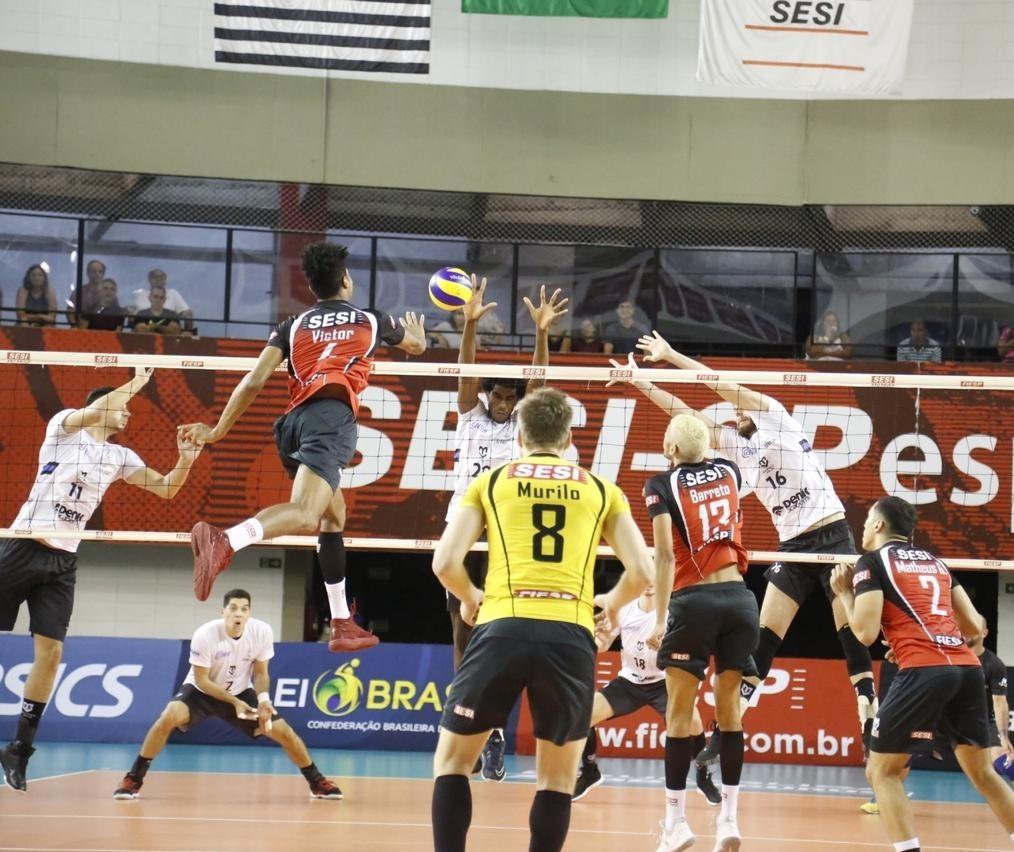 Denk Maringá perde para o Sesi por 3 sets a 1
