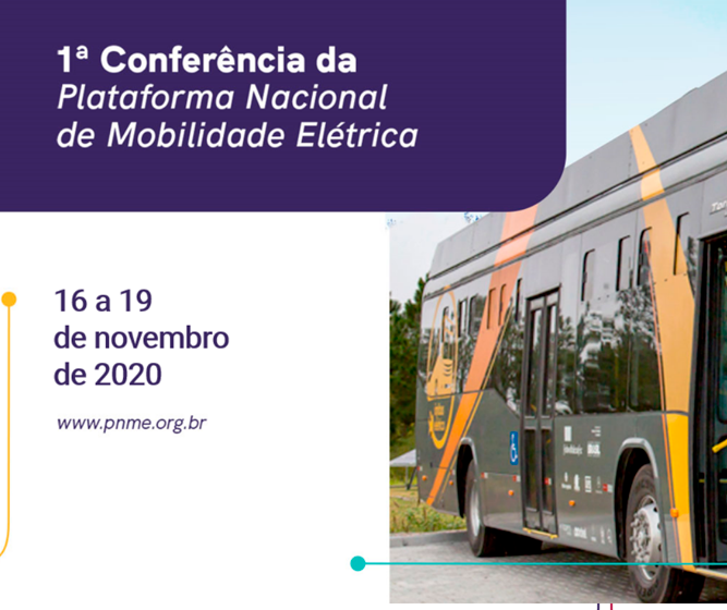 A primeira conferência da Plataforma Nacional de Mobilidade, de 16 a 19 de novembro