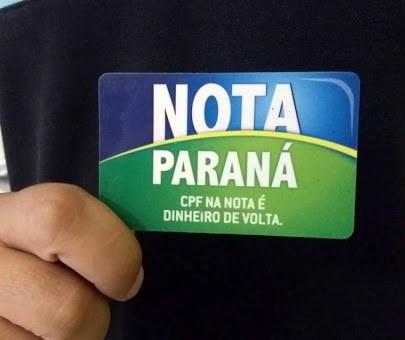 Começa nesse domingo (1º) o prazo para utilização de créditos do Nota Paraná