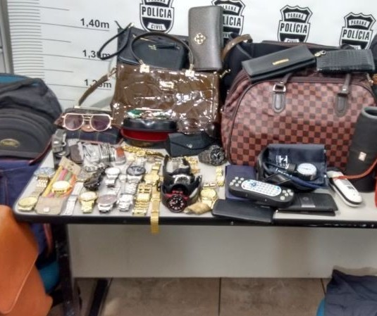 Polícia Civil recupera objetos furtados de carros, em Maringá