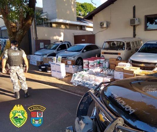 Polícia Militar desarticula quadrilha que furtava agrotóxicos em Marialva