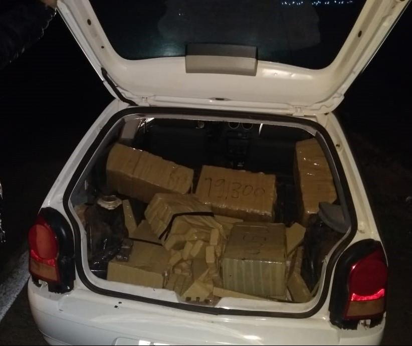 PRE apreende 188,9 kg de maconha em carro abandonado