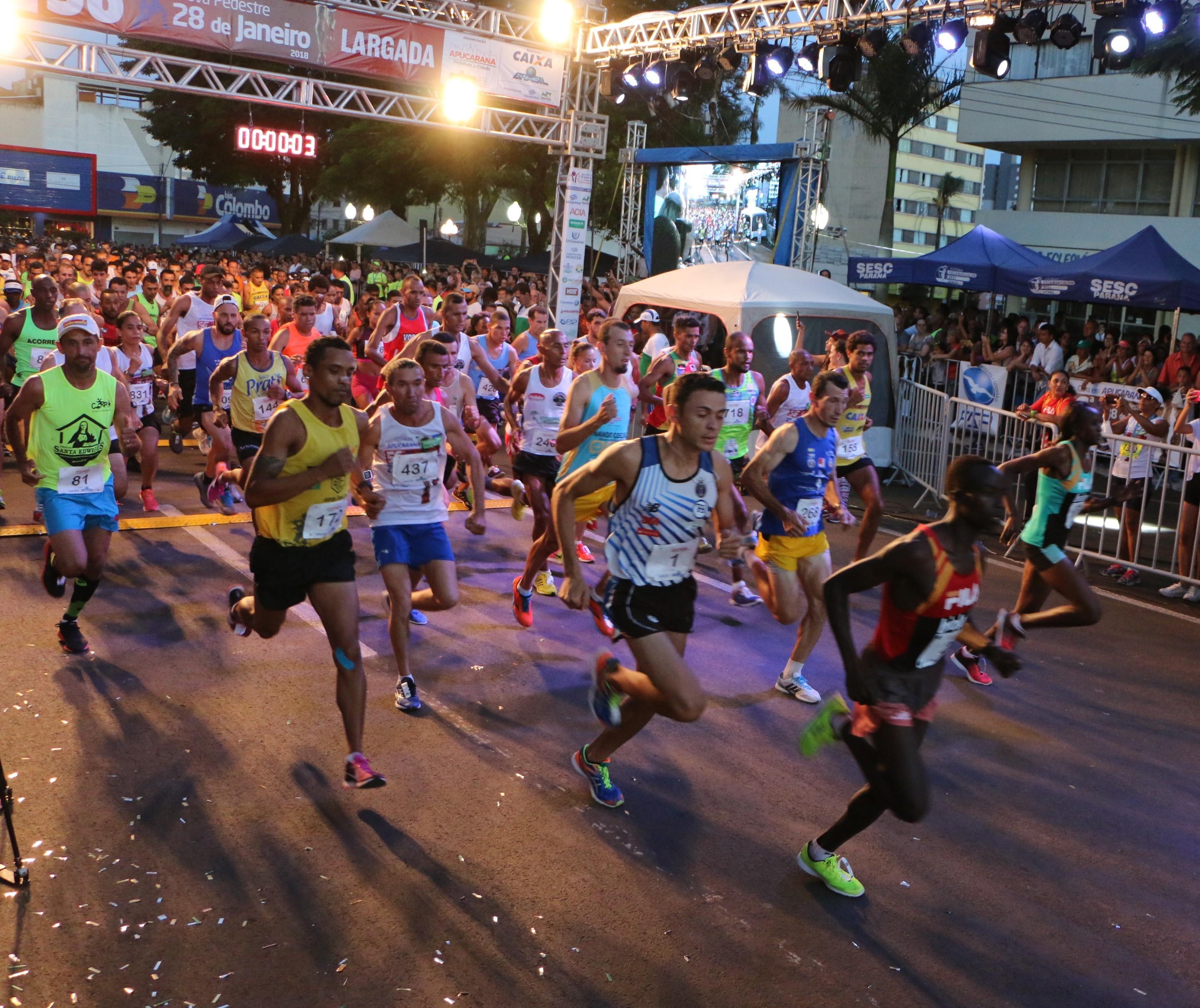 """Organização espera mais de 3 mil atletas na """"28 de janeiro"""""""