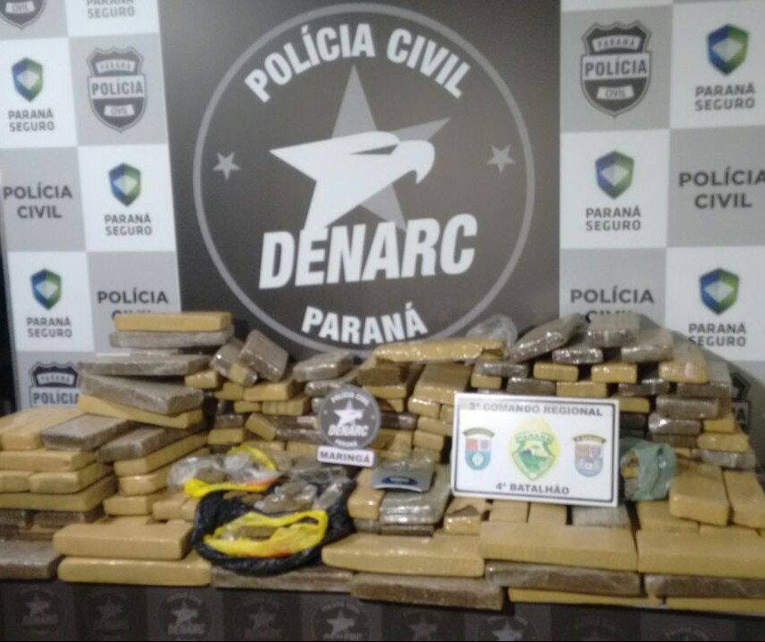 Em três meses de 2018, Denarc apreendeu seis toneladas de maconha