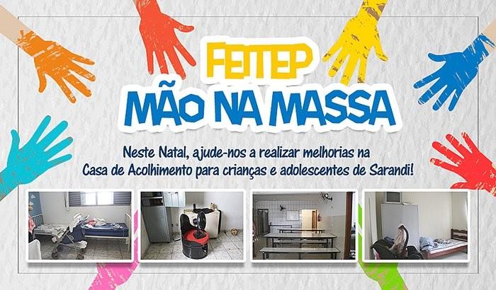 Instituto Feitep lança 'vaquinha' para reforma de Casa de Acolhimento em Sarandi