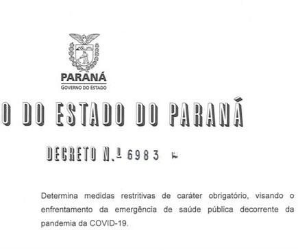 """Confira quais atividades podem funcionar no Paraná durante o """"lockdown"""""""
