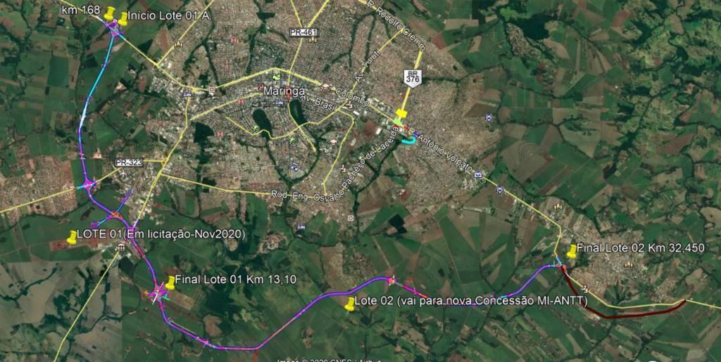 Mapa do Contorno Sul Metropolitano (Foto: Divulgação)