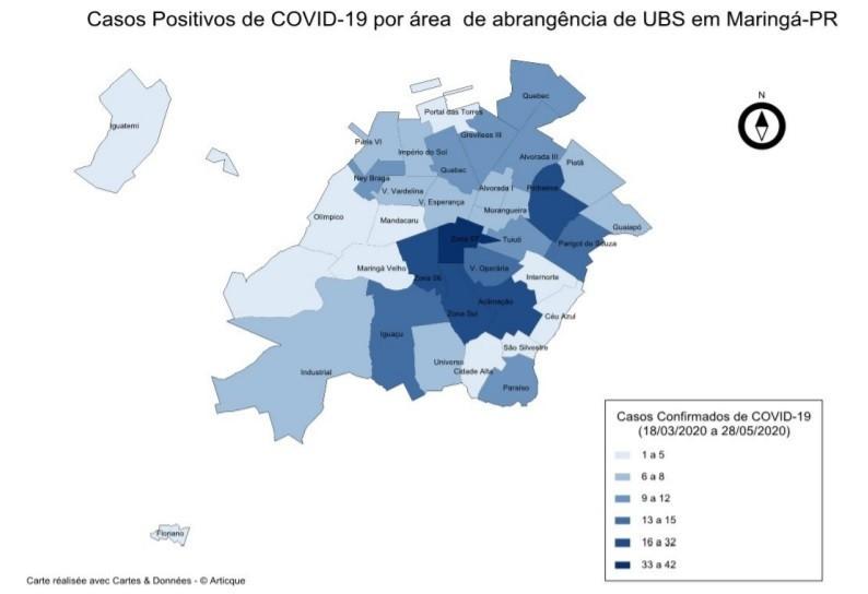 O boletim aponta que em todas as UBS já apresentam casos positivos da doença - Fonte: Secretaria de Saúde