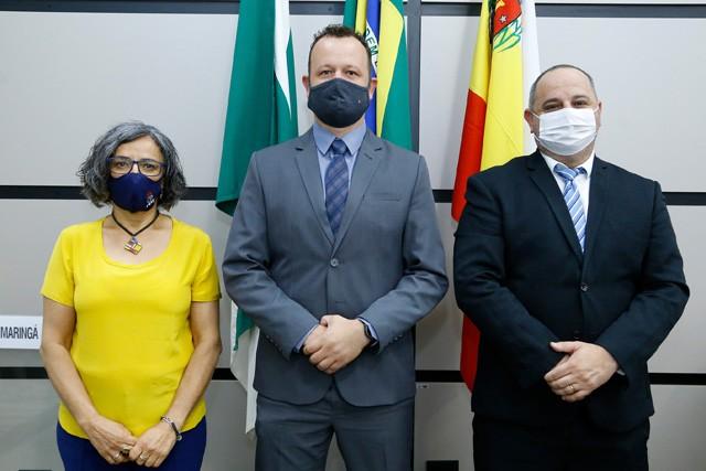Professora Ana Lúcia (membro), Paulo Biazon (presidente) e Alex Chaves (vice) fazem parte da Comissão de Políticas Gerais (foto: CMM/divulgação)