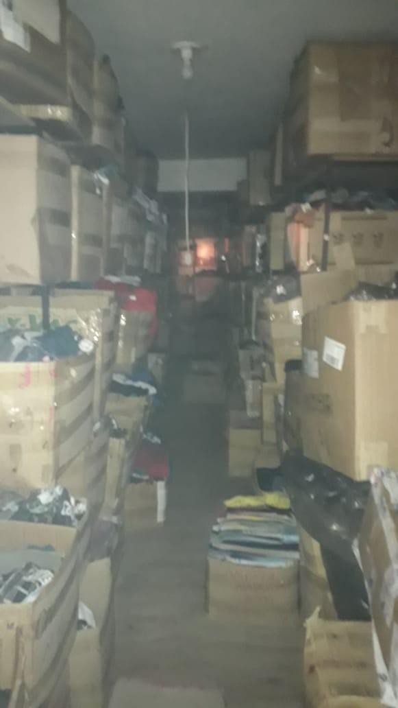 Cerca de 90% do estoque da loja foi salvo. Foto: Corpo de Bombeiros.