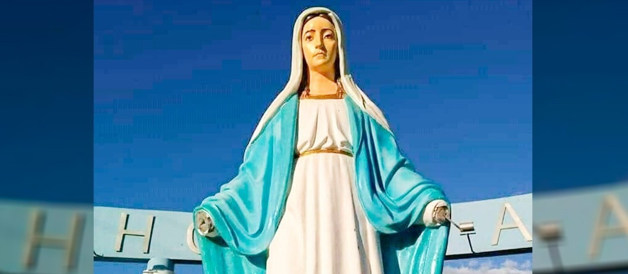 Imagem de santa vandalizada ganhará novas mãos, diz padre