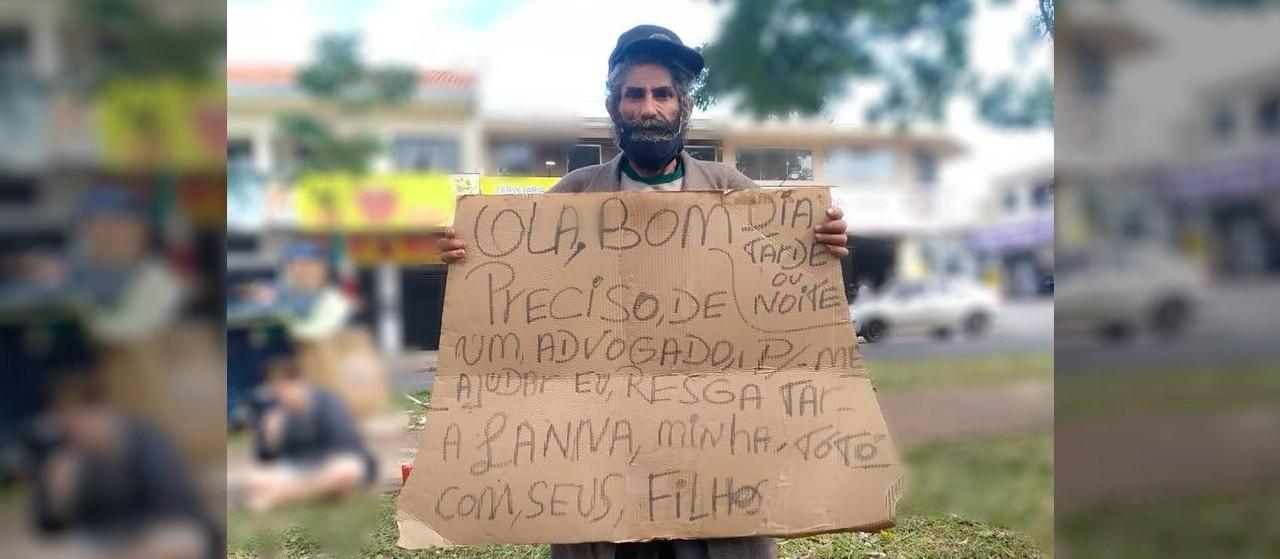 Morador de rua procura cadela que 'roubaram' dele em Maringá