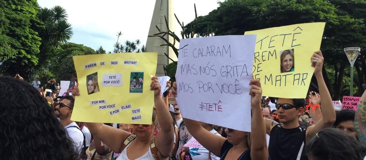 Milhares pedem o fim do feminicídio em Maringá