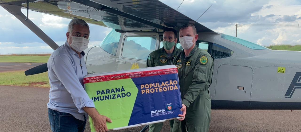 Novo lote com doses da Coronavac e Astrazeneca chegam a Maringá