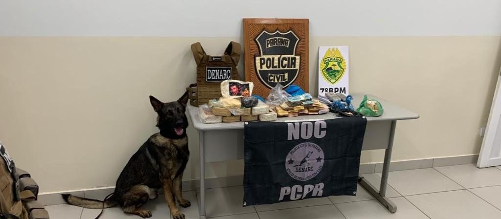 Operação contra o tráfico de drogas apreende 11 kg de crack