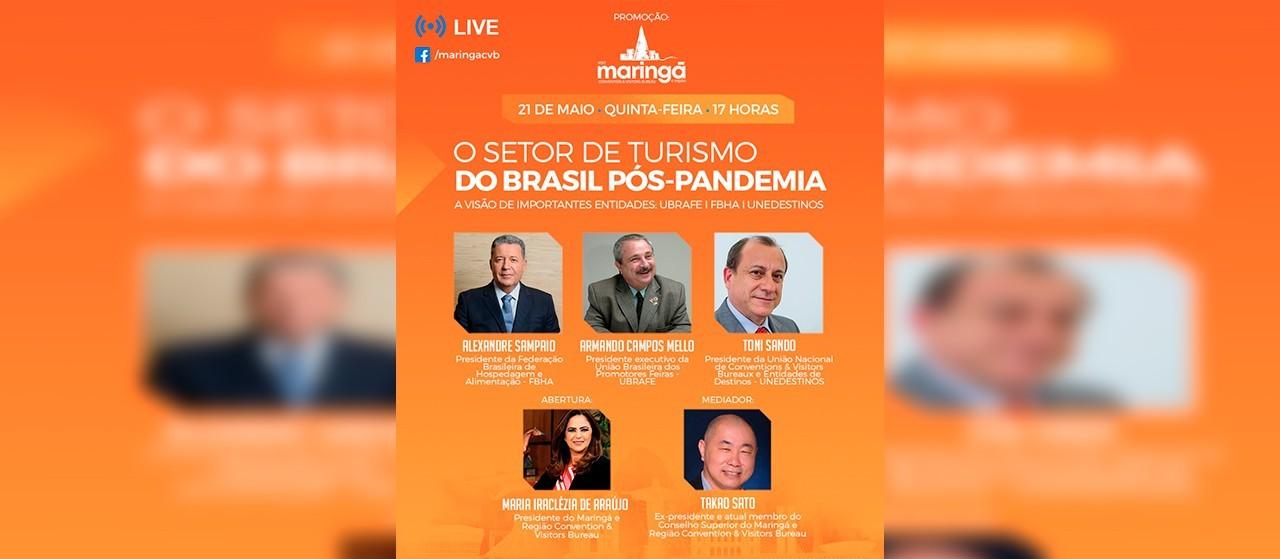 Em live, especialistas debatem o turismo pós-pandemia