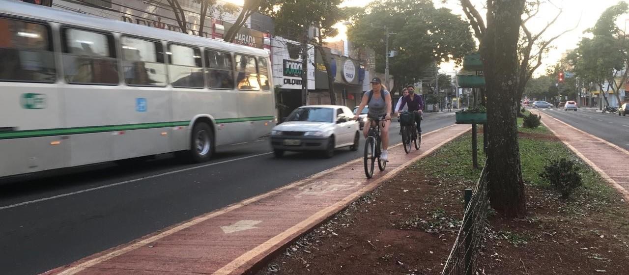 Pesquisa aponta que 6% dos deslocamentos em Maringá são feitos com bicicleta