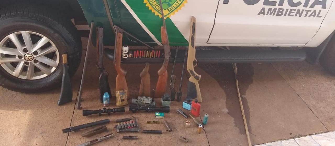 Polícia Ambiental apreende equipamentos para caça em Cruzeiro do Oeste