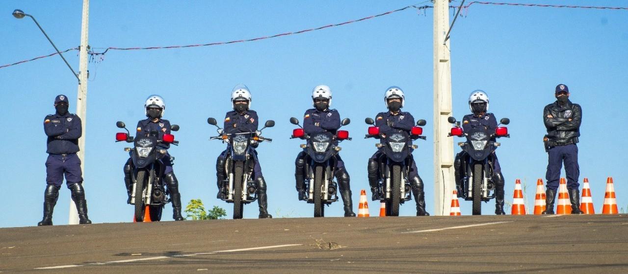 Guardas municipais estão treinando motopatrulhamento