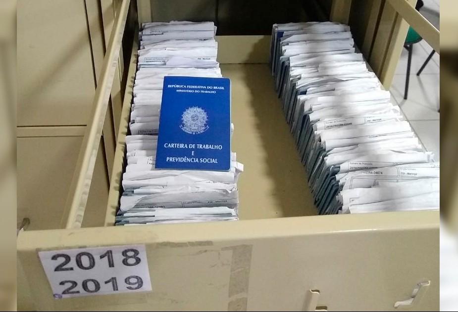 Mais de 1.500 carteiras de trabalho aguardam ser retiradas