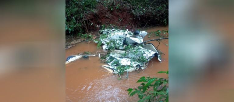 IML de Guarapuava se desloca para retirar corpos das vítimas de acidente aéreo em Roncador