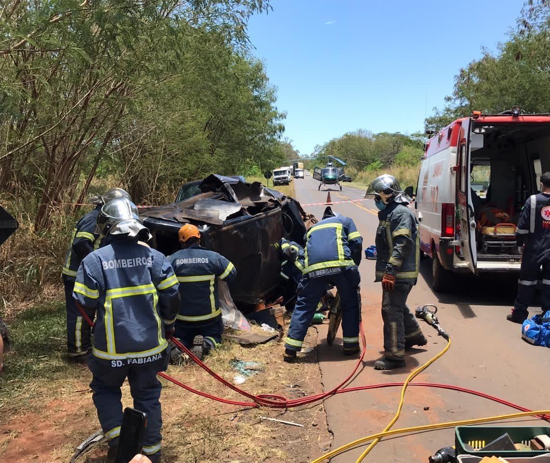 Acidente na PR-317 deixa três feridos, dois em estado grave