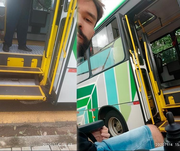 Cadeirante reclama de linhas de ônibus em Maringá