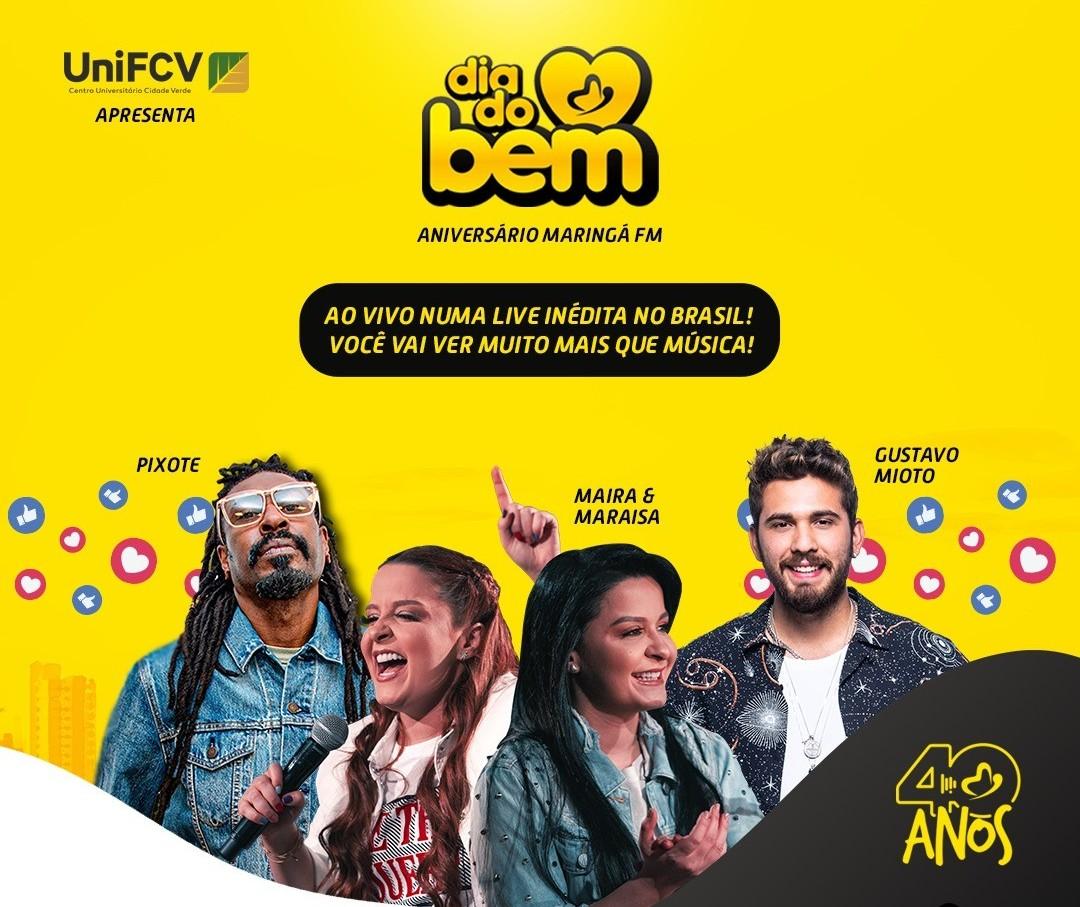 """Evento solidário """"Dia do Bem"""" será nesse domingo (30) em Maringá"""