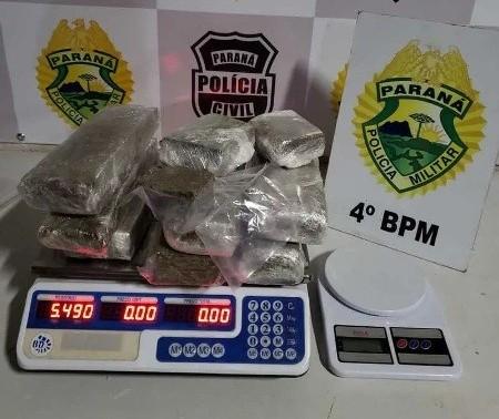 Jovens são presos com drogas e dinheiro em Maringá