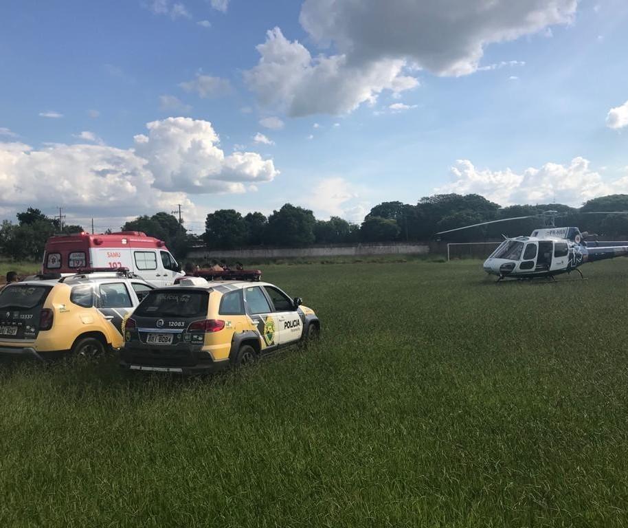 Trote mobiliza equipe de salvamento e até helicóptero do Samu