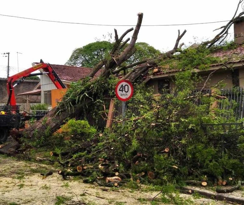 Temporal quebrou 38 postes em Maringá; 3,7 mil imóveis continuam sem energia