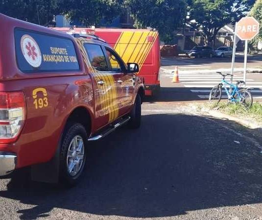 Ciclista fica gravemente ferido após queda em Maringá
