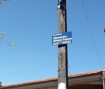Maringá tem 1ª rua do Brasil com nome de motoboy