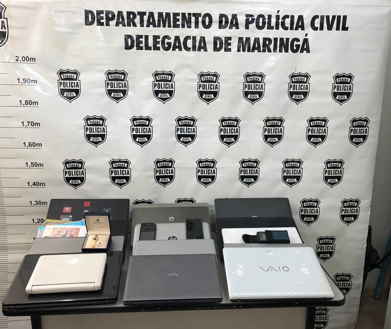 Polícia Civil recupera objetos furtados de prédio comercial
