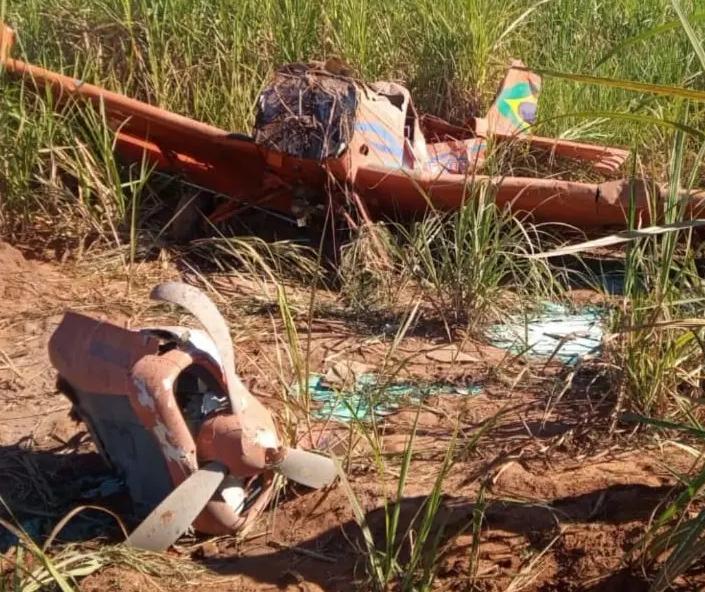 Avião cai em canavial da região e piloto sobrevive