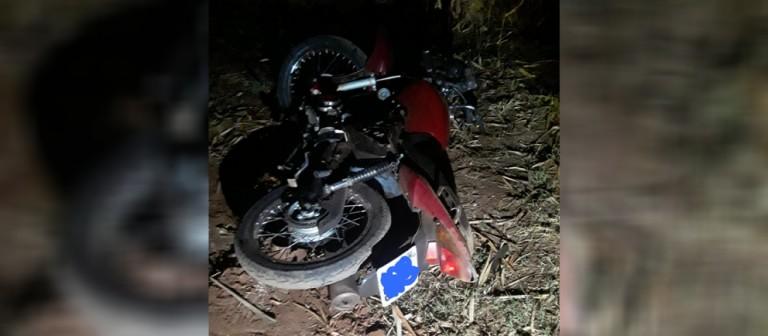 Motociclista fica ferido em acidente na rodovia PR-492, em Paraíso do Norte