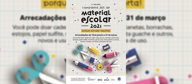 Campanha do Sesc PR arrecada material escolar em Maringá