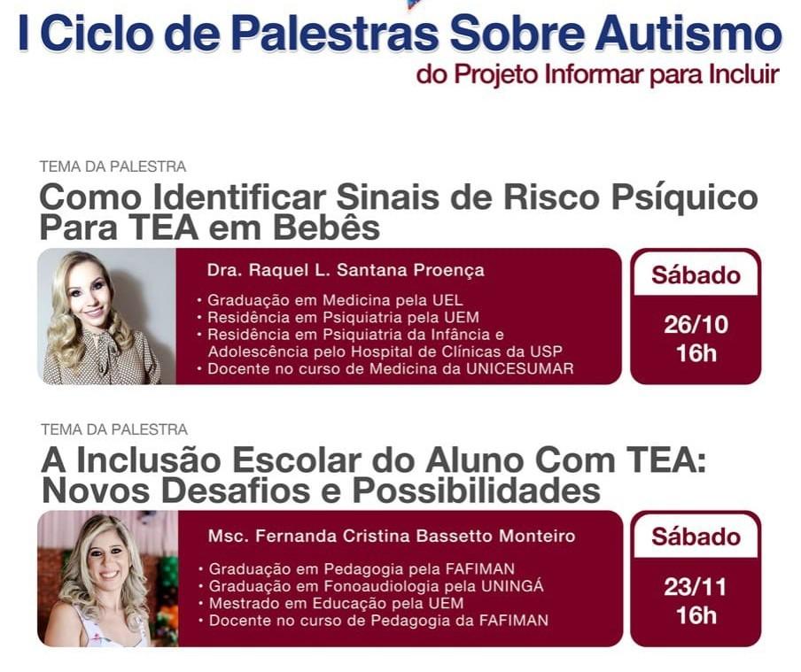 Maringá terá Ciclo de Palestras sobre Autismo