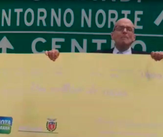 Equipe do Nota Paraná procura por milionário em Sarandi
