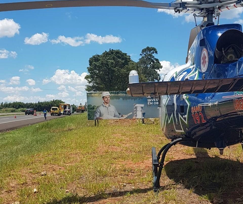 Motociclista sofre traumatismo craniano ao cair do veículo na BR-376